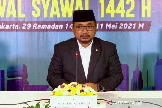 Menag: Momen Idul Fitri harus semakin memperkuat nilai kemanusiaan