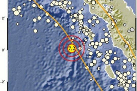 Kota Gunungsitoli rasakan gempa 7,2 magnitudo 7,2 di Nias Barat