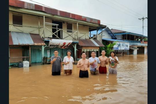 Banjir di Badau, 80 rumah warga di perbatasan RI-Malaysia terdampak