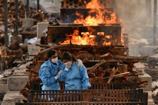 Kematian  harian COVID-19  di India mendekati 4.000 jiwa