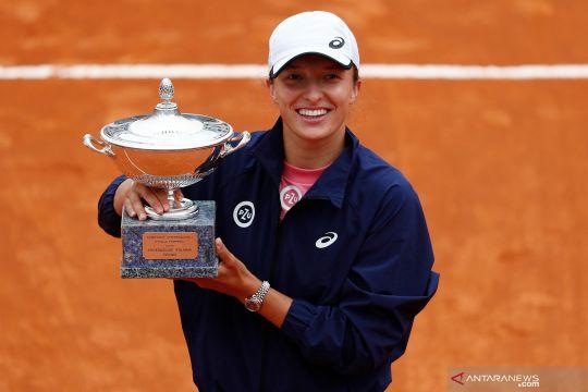 Petenis Polandia Iga Swiatek juara Italian Open