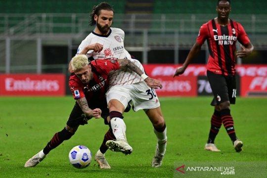 Cagliari gagalkan upaya Milan kunci tiket Liga Champions