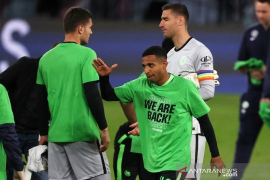 Wolfsburg raih tiket terakhir Liga Champions kendati diimbangi Leipzig