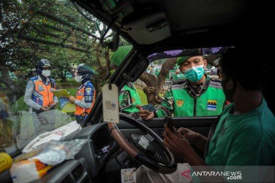 Penyekatan arus pemudik lebaran di Bandung
