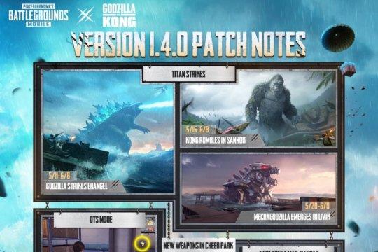 Godzilla vs. Kong mulai manjakan pengemar PUBG Mobile