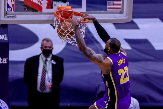 Meski menang atas Pelicans, Lakers tetap harus jalani turnamen play-in