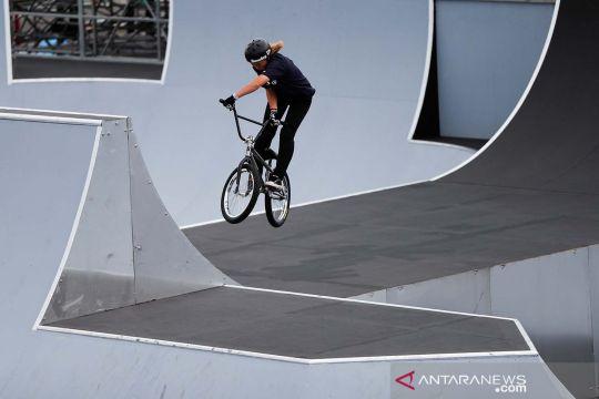 Uji coba venue BMX Olimpiade Tokyo 2020