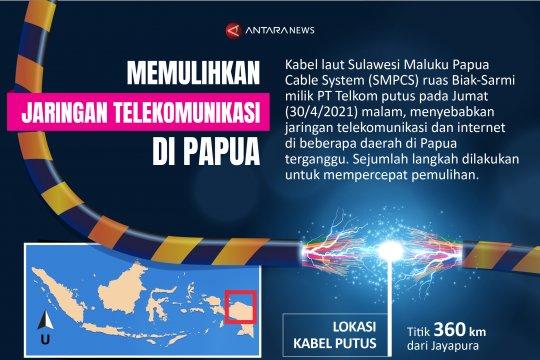 Memulihkan jaringan telekomunikasi di Papua