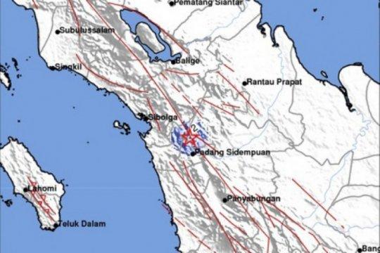Gempa tektonik kedalaman 2 km guncang Padang Sidimpuan Sumut