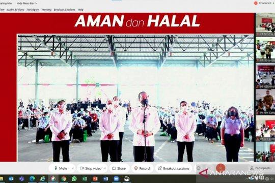 Disaksikan Presiden, 1.000 karyawan Indocement divaksin Gotong Royong