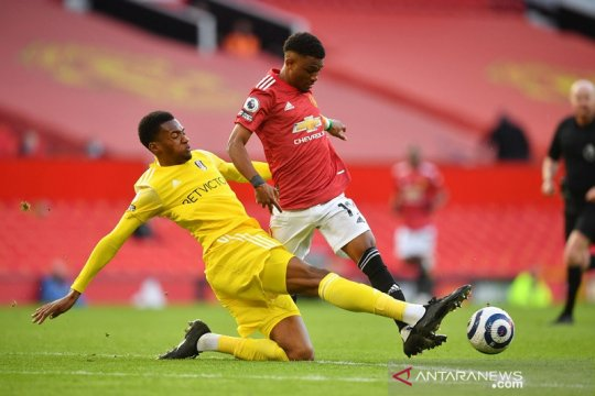 Manchester United ditahan imbang Fulham dalam laga kandang pemungkas
