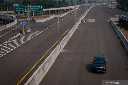 Progres proyek pembangunan jalan tol Serang - Panimbang