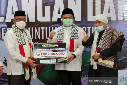 Wali Kota Depok donasikan Rp200 juta untuk Palestina