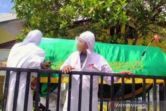 Keranda pun diusung untuk sampaikan bahaya COVID-19 di Deli Serdang