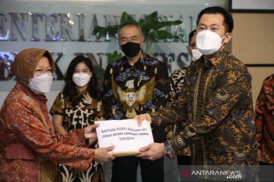 Kemensos terima donasi Rp100 juta untuk penanganan bencana NTT