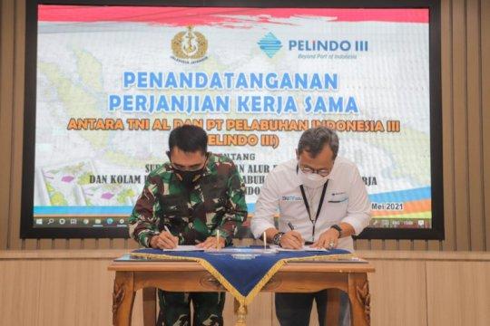 Pelindo III bekerja sama dengan Pushidrosal TNI AL