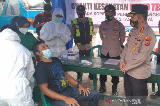 Tes antigen di Terminal Singaparna-Tasikmalaya, dua warga positif