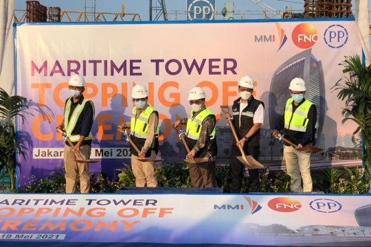 "PP lakukan ""topping off"" Maritime Tower"