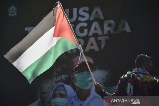 Aksi solidaritas untuk Palestina di NTB