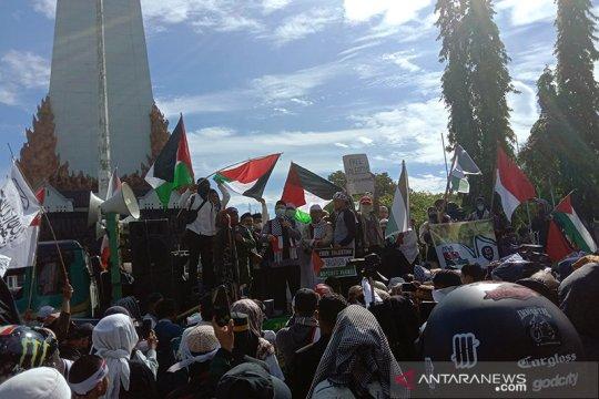 Aksi Bela Palestina di Makassar berlangsung aman dan damai