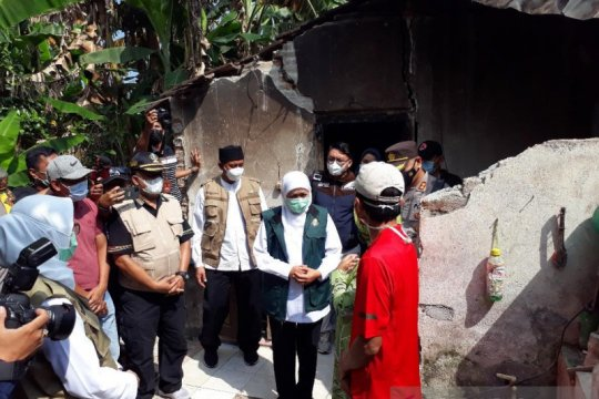 Gubernur tinjau rumah rusak akibat gempa magnitudo 5,9 di Blitar