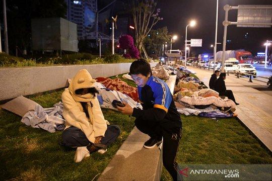 Gempa bumi mengguncang Yunnan