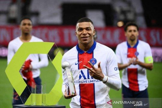 Kylian Mbappe jadi top skor Liga Prancis tiga musim beruntun