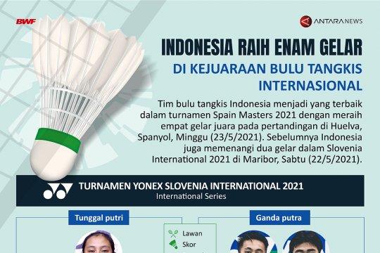 Indonesia raih enam gelar di kejuaraan bulu tangkis internasional