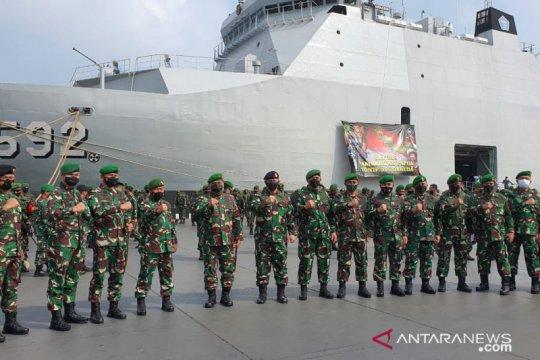 """KRI Banjarmasin-592 angkut """"Pasukan Setan"""" ke Papua"""