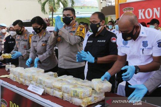 Polisi gagalkan penyelundupan sabu seberat 40 kg dari Malaysia