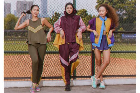 Olahraga nyaman dengan busana warna-warni retro gaya 80-an