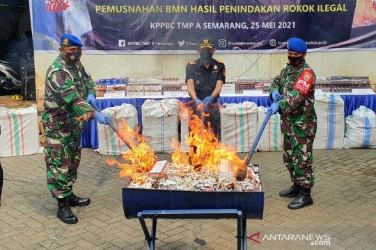 Bea Cukai Semarang musnahkan rokok ilegal senilai Rp2 miliar