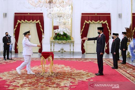 Presiden Jokowi lantik Gubernur dan Wagub Kalteng