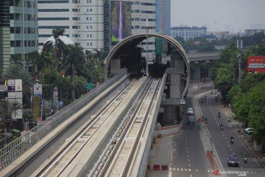 Konstruksi LRT Jabodebek capai 84,47 persen per 30 April 2021