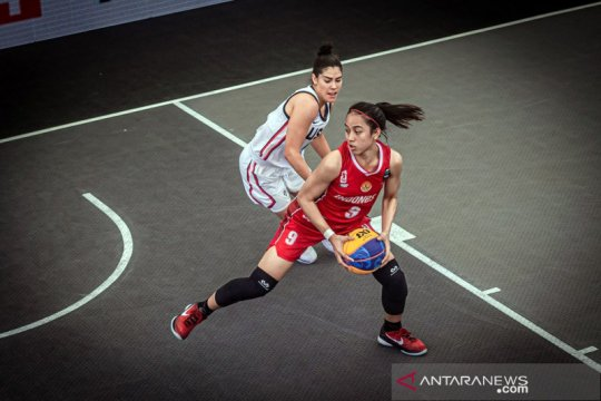 3x3 putri Indonesia berjibaku hadapi Amerika di kualifikasi Olimpiade