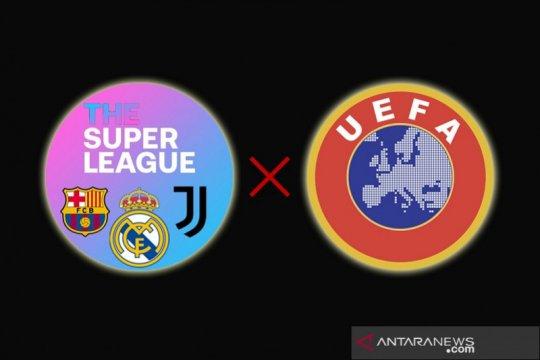 Real Madrid, Barca dan Juve sebut UEFA langgar perintah legal