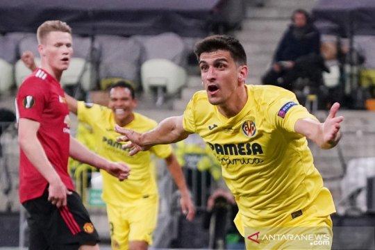Babak pertama final Liga Europa, Villarreal ungguli MU 1-0