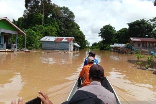Ratusan rumah warga di Sembakung terendam banjir kiriman dari Malaysia