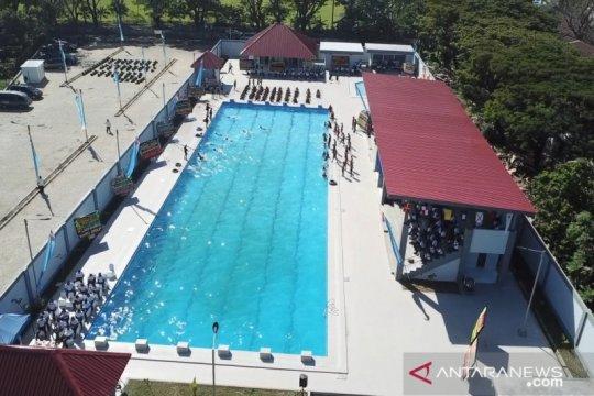 Kasal resmikan kolam renang militer Tirto Sagoro-05 Makassar