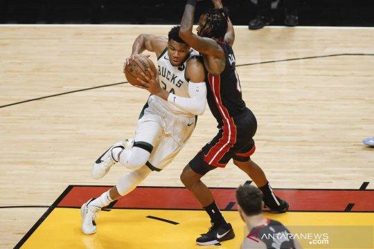 NBA Playoffs: Milwaukee Bucks menang 4-0 atas Miami Heat