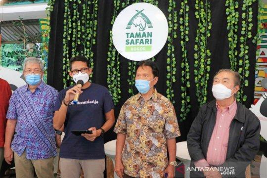 """Sandiaga namai gajah di TSI """"Pulisia"""", miliki arti pulihkan Indonesia"""