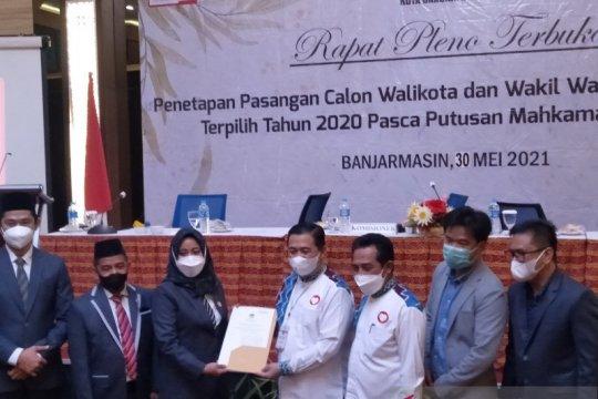 KPU Banjarmasin tetapkan pasangan Ibnu-Arifin pemenang Pilkada 2020