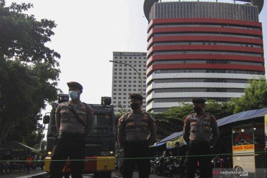 Polisi memperketat penjagaan di Gedung Merah Putih KPK