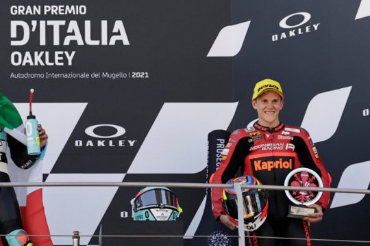 Indonesian Racing bangga pebalapnya naik podium Moto3 di Italia