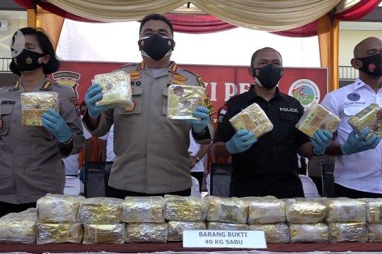 Polrestabes Medan tangkap empat pengedar narkoba jaringan Malaysia