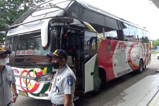 BPTD pantau operasional bus di Sumbar jelang peniadaan mudik
