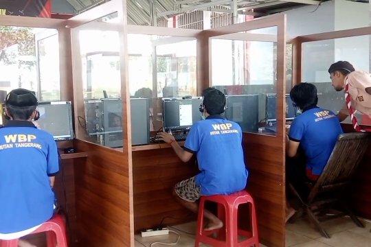 Cegah COVID-19,  Rutan Tangerang fasilitasi kunjungan virtual