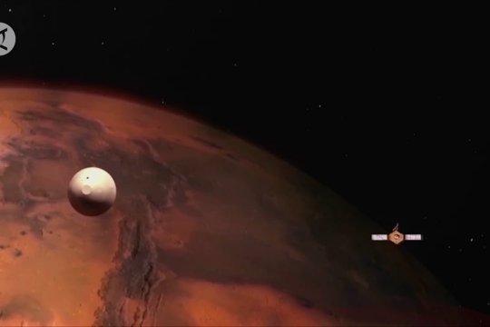 Wahana antariksa Tianwen-1 kirim foto dan video pertama dari Mars