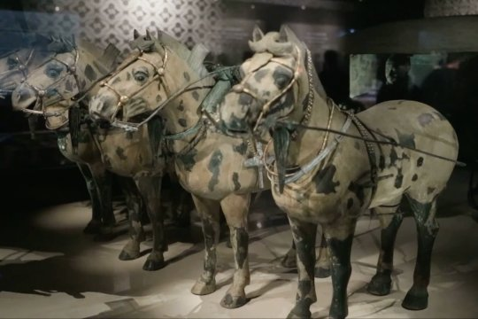 Kereta kuda perunggu berusia 2.200 tahun dipamerkan di museum baru di China