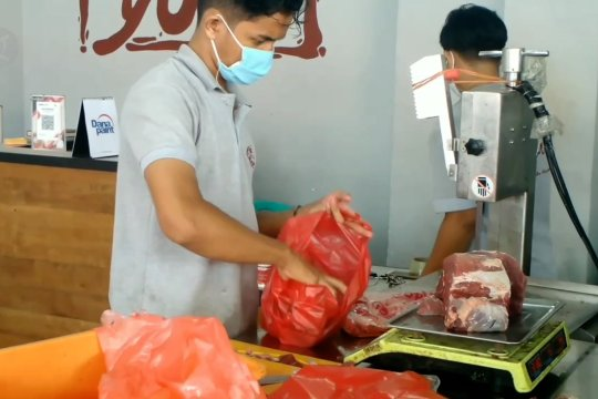 Sidak pasar, Satgas Pangan Jambi dapati daging beku dijual harga tinggi